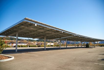 solar panels over parking lot